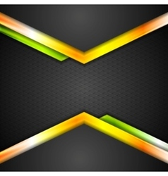 Abstract technology background with orange arrows vector image vector image