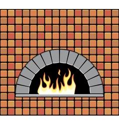brick oven vector image vector image