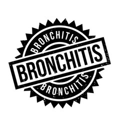Bronchitis rubber stamp vector