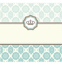 card baroque vector image vector image