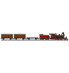 Classic american steam train vector image