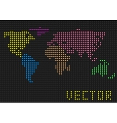 Colored world map vector image vector image