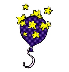Comic cartoon balloon vector