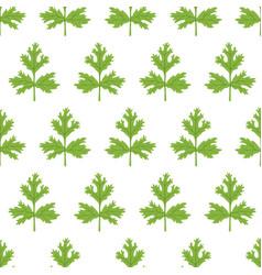 Coriander seamless pattern cartoon flat vector
