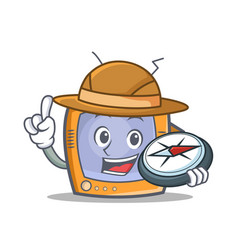Explorer tv character cartoon object vector