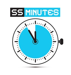Fifty Five Minutes Stop Watch - Clock vector image vector image