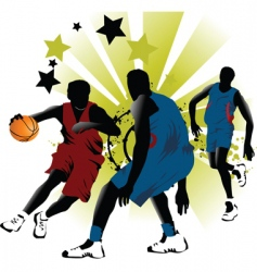 game basketball vector image vector image