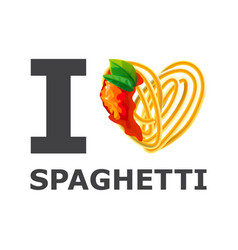 I love spaghetti design isolated background vector