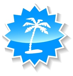 Island blue icon vector