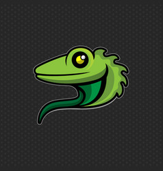 lizard logo design template lizard head icon vector image