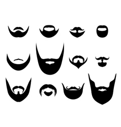 Men silhouette shapes of beards and vector image vector image