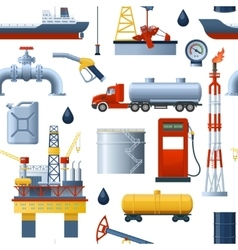 Oil industry pattern vector