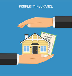 property insurance concept vector image