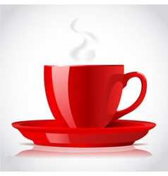 red coffee cup vector image vector image