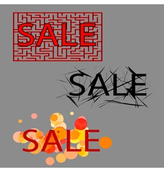 sale set of three tag vector image vector image
