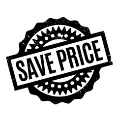 save price rubber stamp vector image vector image
