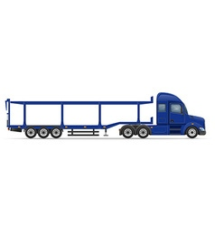 Semi truck trailer 16 vector