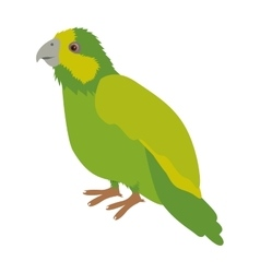 Silhouette green parrot animal bird vector