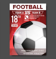 Soccer poster sport event announcement vector