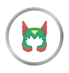 Superhero s helmet icon in cartoon style isolated vector