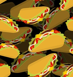 Taco 3d background Volume texture Mexican food vector image