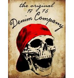 tee graphic skull fashion t shirt design vector image vector image
