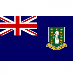 virgin islands uk flag vector image vector image
