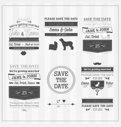 Wedding save the date vector image vector image