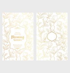 white invitation card design vector image vector image
