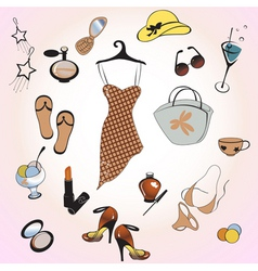 womans fashion and lifestyle vector image