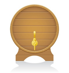 wooden barrel 03 vector image
