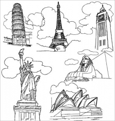 world landmark vector image vector image