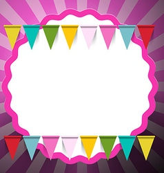 Retro Pink Background with Flags vector image