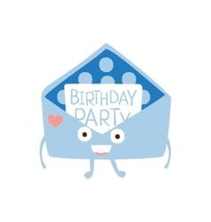 Invitation mail envelop children birthday party vector