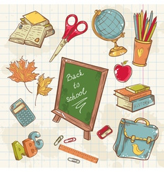 Back to school collection vector