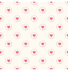 Seamless geometric cute pattern with hearts vector image