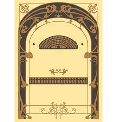 Art Nouveau Background and Frame vector image