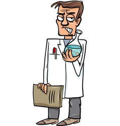 Evil scientist cartoon vector
