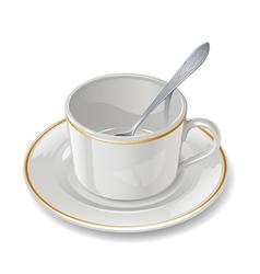 Empty cup vector