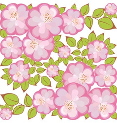 square flower pattern vector image