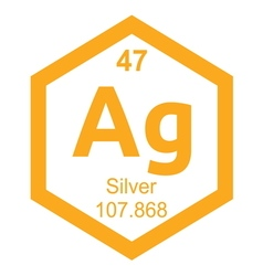 Periodic table silver vector