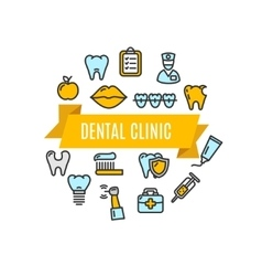 Dental clinic concept vector
