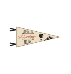 Adventure pennant travel pennant design vector