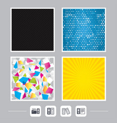 accounting icons document storage in folders vector image vector image