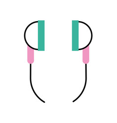 Audio earphones isolated icon vector