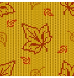 Autumn Knitted Pattern 2 vector image vector image