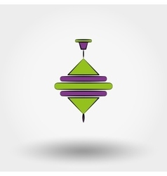 Baby toys whirligig vector image