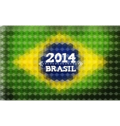 Background with brasil flag 2014 brasil lettering vector