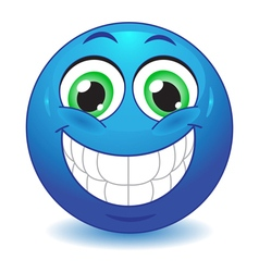 Big smile vector image