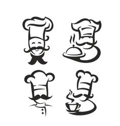 black chef vector image